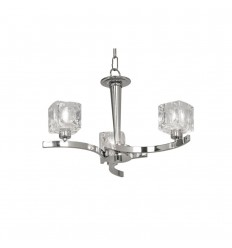 Tao Chrome Ceiling 3 Light