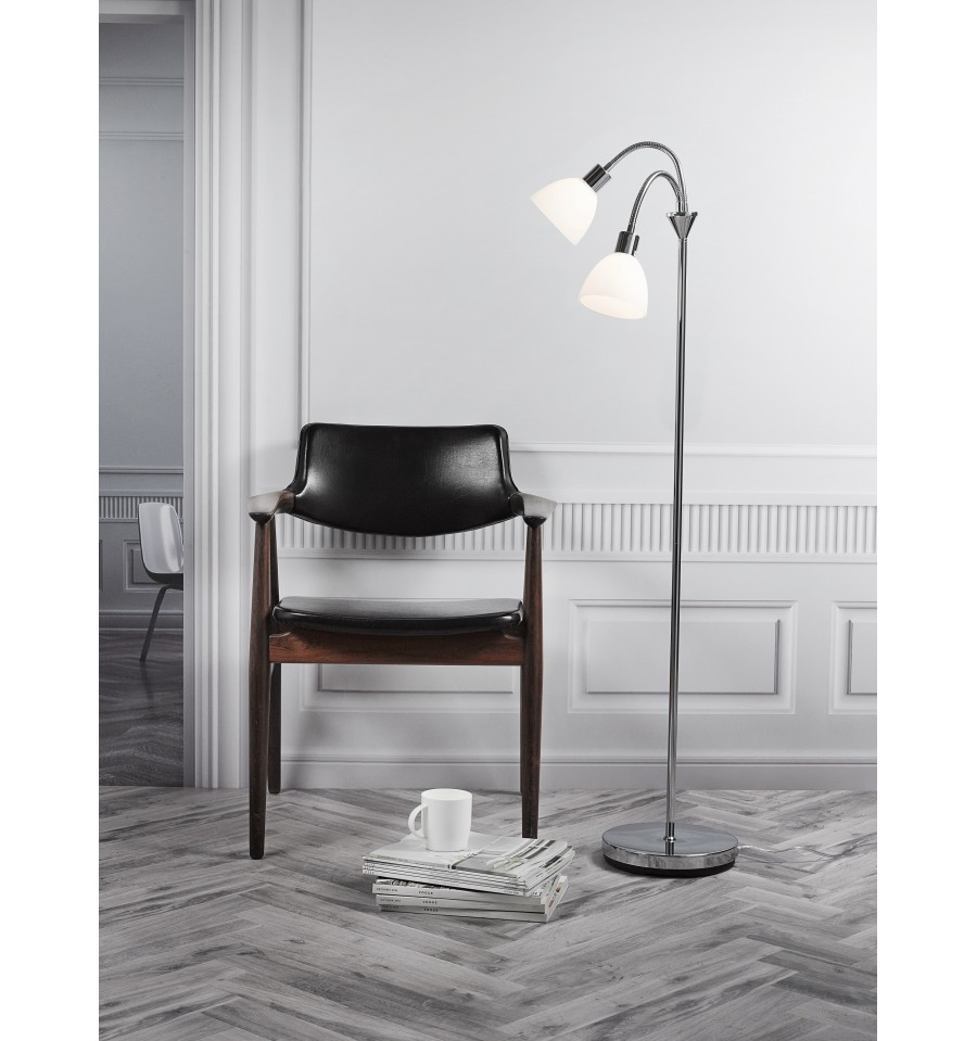 Ray Double Floor Lamp With Dimmer. Loading Zoom