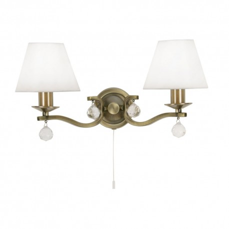 Maita Antique Brass Wall Light