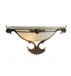 Antique Brass & Glass Wall Light 3004
