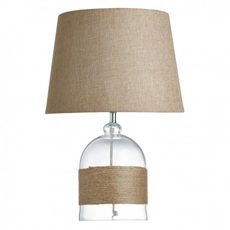 Hemp & Glass Table Lamp