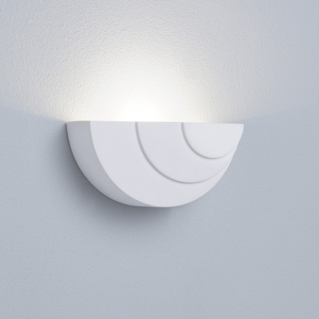 Gypsum 3W LED White Plaster Wall Uplighter
