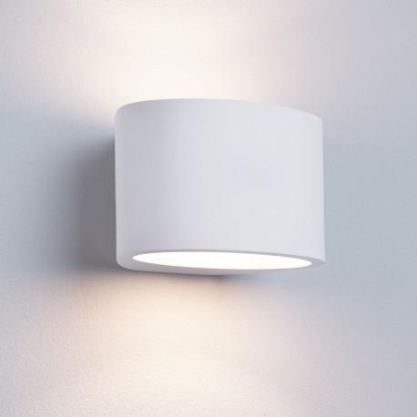 Gypsum G9 Oval White Plaster Wall Light