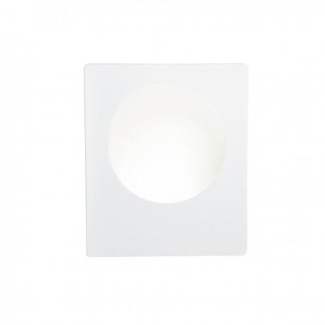Gypsum 1W LED Square White Plaster Wall Light