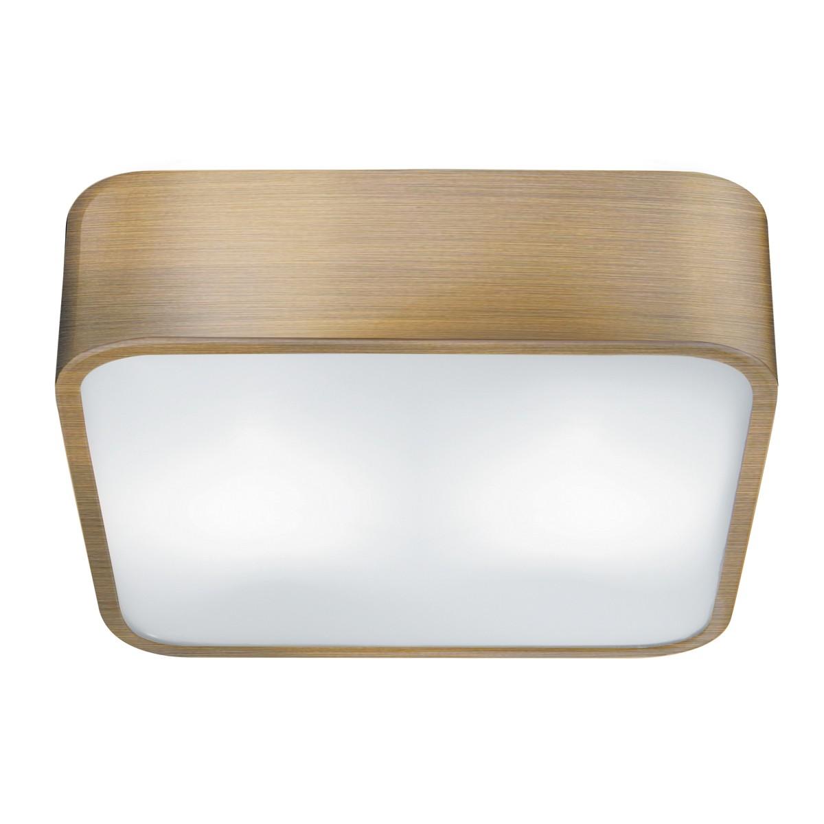 Square 2 bulb fitting 25cm hegarty lighting ltd