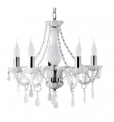 Marie Therese White Frosted Glass Chandelier
