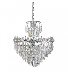 Catherine 5 Light Tiered Crystal Chandelier