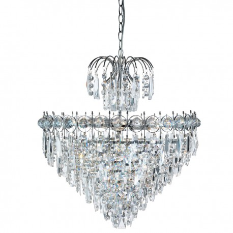 Catherine 7 Light Tiered Crystal Chandelier