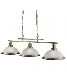 Bistro 3 Light Industrial Ceiling Bar Pendant