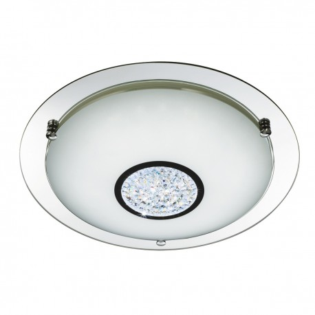 Mirror Halo with Crystal Ceiling Fitting 24 LED
