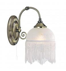Victoriana 1 Light Antique Brass/Beaded Glass
