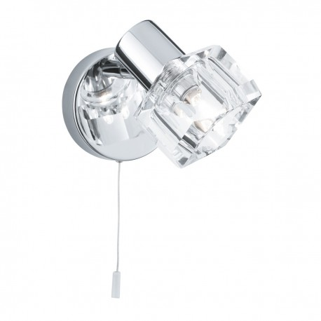 Triton 1 Light Wall Bracket Chrome/Clear Glass G9