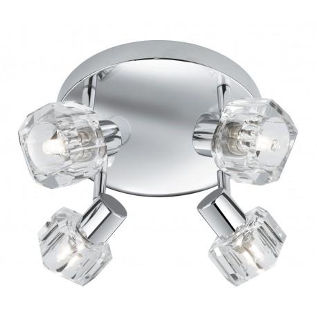 Triton 4 Light Round Spot Chrome/Clear Glass G9
