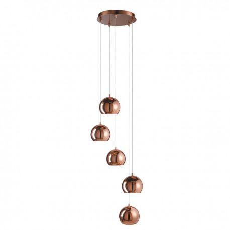 Domas 5 Light Copper Dome Shade Multi-Drop Ceiling