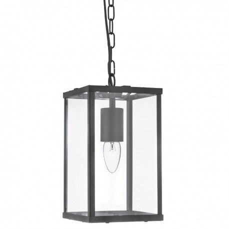 Voyager 1 Light Rectangle Black/Clear Glass