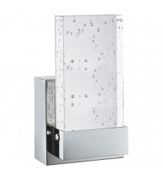 LED Bathroom Wall Bracket, Chrome, Clear Bubble Glass