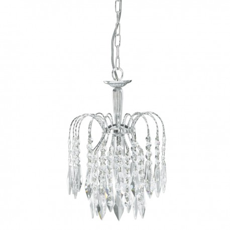 Waterfall 1 Light Crystal Chandelier