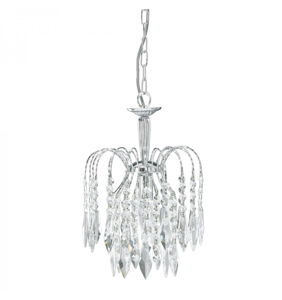 Waterfall 1 Light Crystal Chandelier Hegarty Lighting Ltd