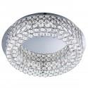 Vesta LED Ceiling Flush, Chrome, Clear Crystal Buttoms