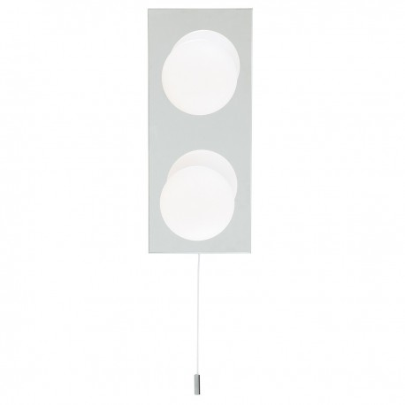 Globe Bathroom 2 Light Wall Fitting IP44
