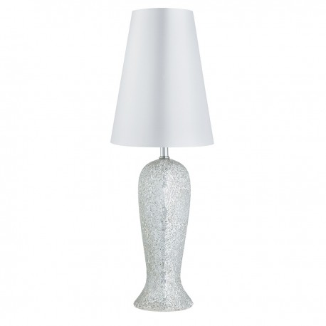 Antique Mosaic - Silver Table Lamp
