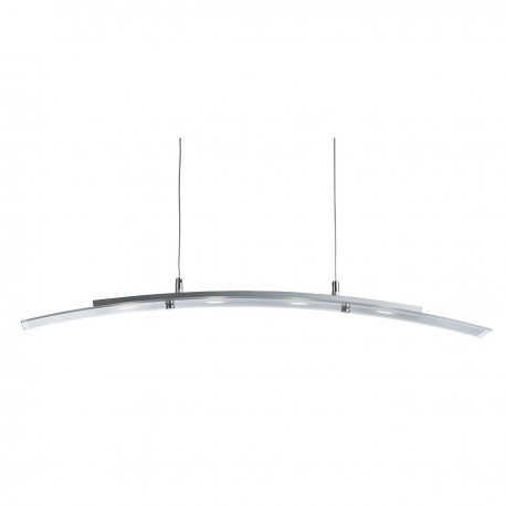 LED Bar Light - Curved Pendant 4 Light 5W - Frosted Glass With Clear Edge
