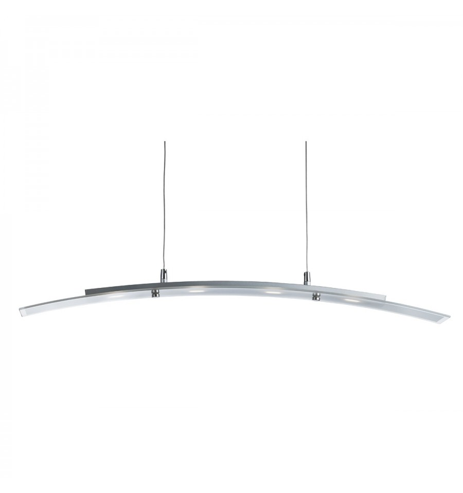 Led Bar Light Curved Pendant 4 5w Frosted Gl With Clear Edge Hegarty Lighting Ltd