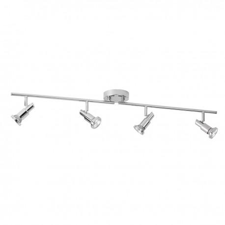 Torch - 4 Light LED Chrome Split Bar Spot