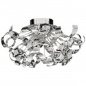 Curls 12 Bulb Flush Fitting-Glass Beads