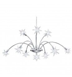 Stars 10 Light Chrome Pendant Fitting