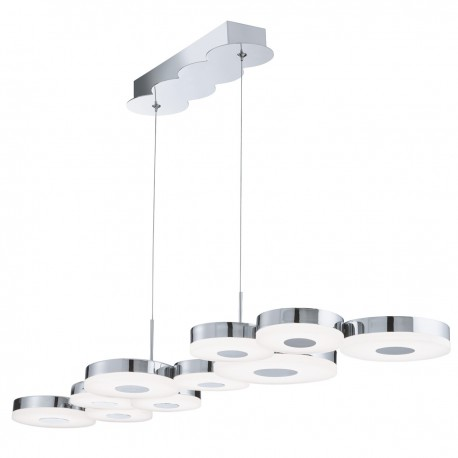 Chromia LED 10 Disc Ceiling Bar, Chrome, Frosted Acrylic