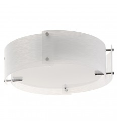4 Panel Frosted Glass Semi Flush Fitting