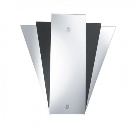 Wall Mirror Light - Deco Fan Style Black