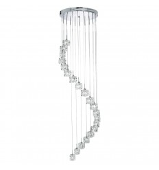 Sculptured Ice 20 Light Multidrop Pendant