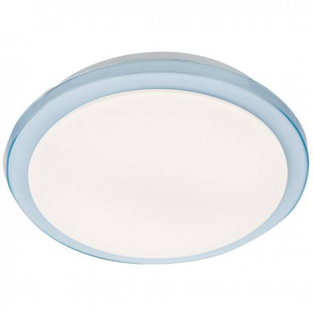 Bathroom LED Ceiling Fitting with Blue Rim IP44