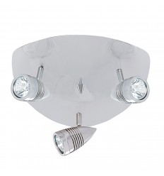 Falcon 3 Light Satin Silver Plate Spot Gu10