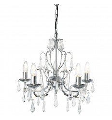 Martina 5 Light Modern Chrome Chandelier Complete With Crystal