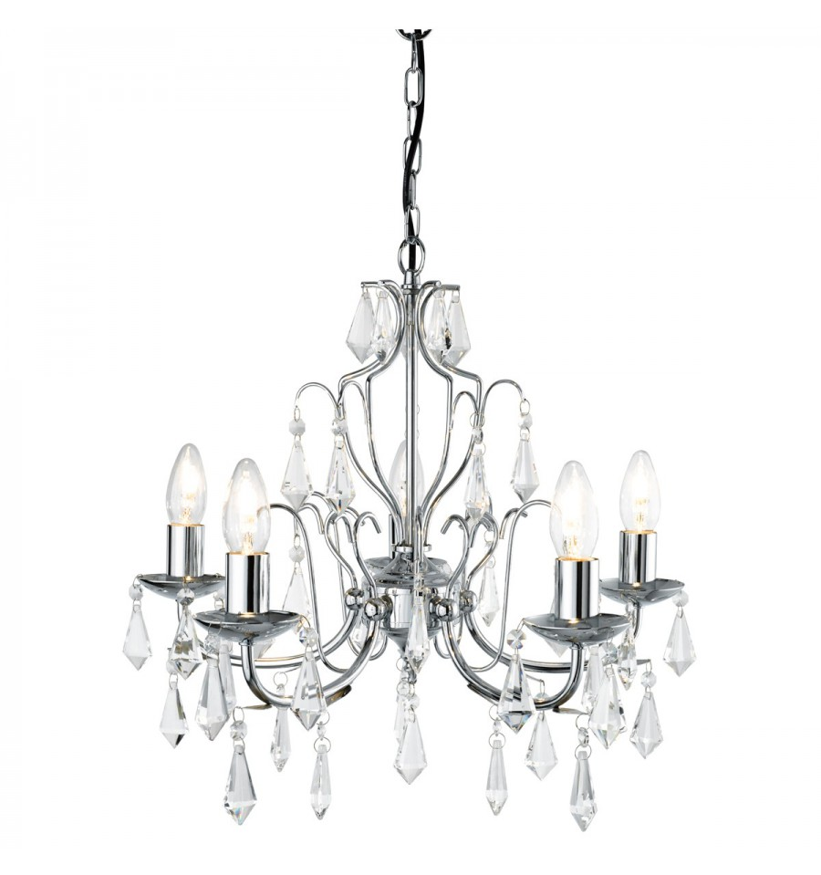 Martina 5 light modern chrome chandelier complete with crystal martina 5 light modern chrome chandelier complete with crystal aloadofball Image collections