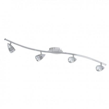 Falcon 4 Light Satin Silver Bow Bar Spot Gu10