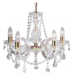 Marie Therese 5 Light Glass Crystal Chandelier
