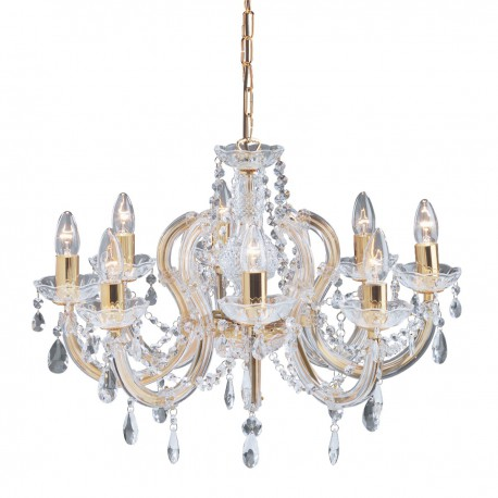 Marie Therese 8 Light Glass Crystal Chandelier
