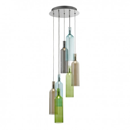 Bottles 7 Light Multidrop Pendant