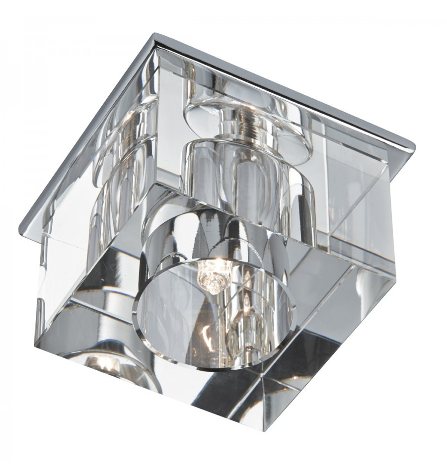 Clear Ice Cube Downlighter With Chrome