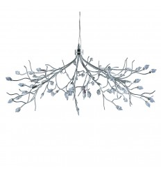Willow Maple Leaf Crystal Chrome 10 Light Fitting
