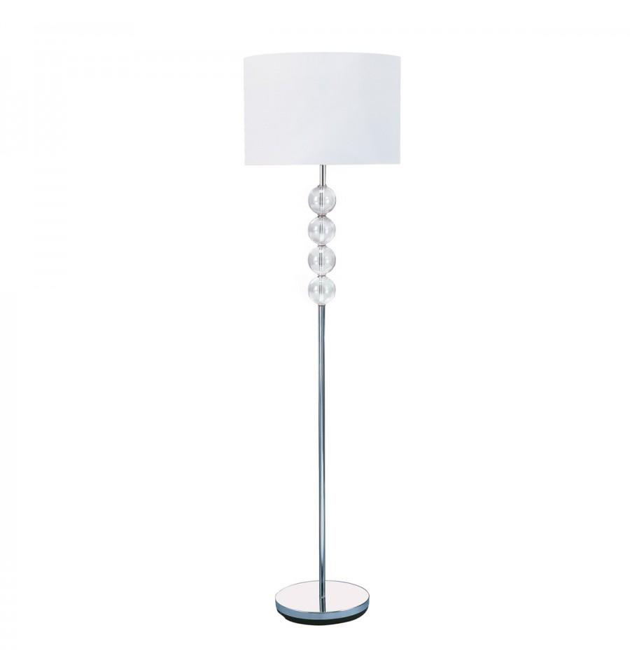 buy popular b8971 8433a Chrome & Glass Floor Lamp 8194 - Hegarty Lighting Ltd.