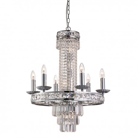 Chelsea 10 Light Crystal Pendant
