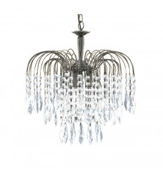 Waterfall 3 Light Crystal Chandelier