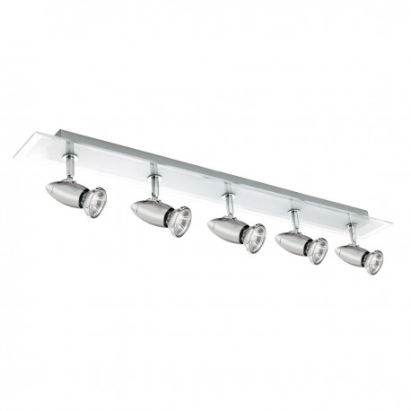 Saturn 5 Light Chrome Bar Spotlight Glass Backplate