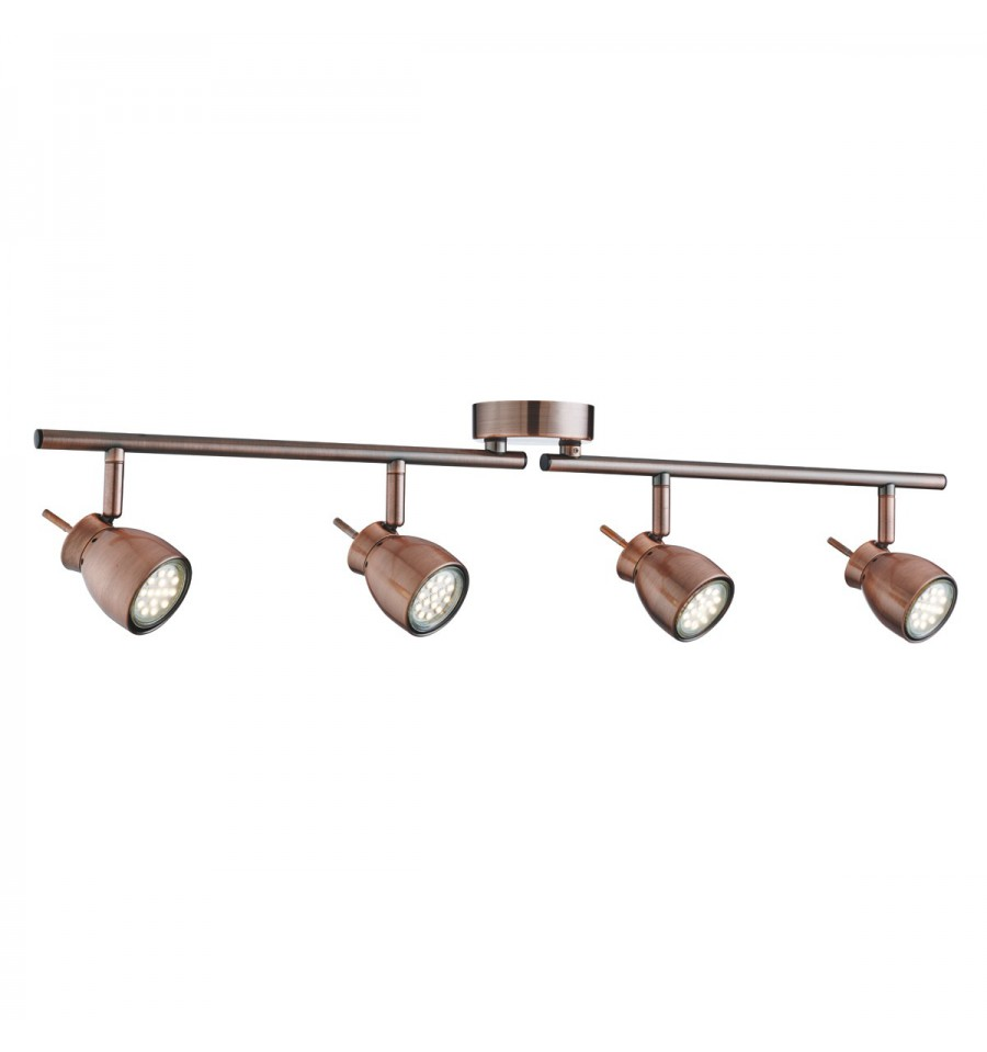 Jupiter 4 Light Antique Copper Split Bar