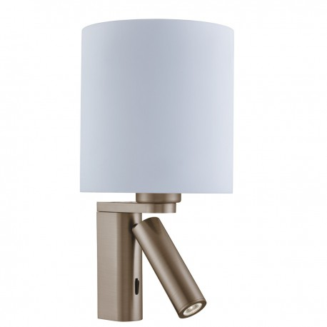 Wall Light with LED Reading Light with Circular Shade
